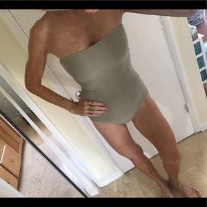 Mikoh Santori Beige one piece swimsuit